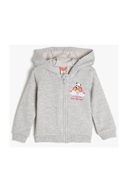 Koton Kar Melanj Kız Bebek Sweatshirt