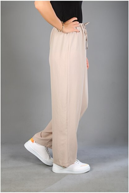 Modaceda Bol Paça Pantolon Aerobin Kumaş