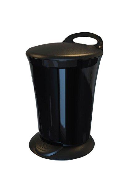 Adesign Renkli Pedallı Çöp Kovası Siyah 6 lt