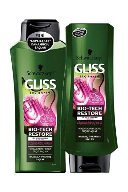 Gliss Bio-tech Restore Güçlendirici Şampuan 360 Ml + Bio-tech Restore Güçlendirici Saç Kremi 360 Ml