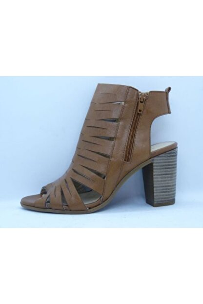 VİNİCCİ AYAKKABI Kadın Kahve Hakiki Deri Açık Ayakkabı