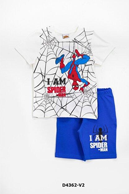 Spiderman Erkek Çocuk Ekru  Spiderman Pijama Takımı