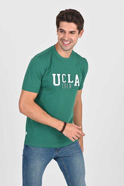 Ucla CABAZON Yeşil Bisiklet Yaka Baskılı Erkek Tshirt