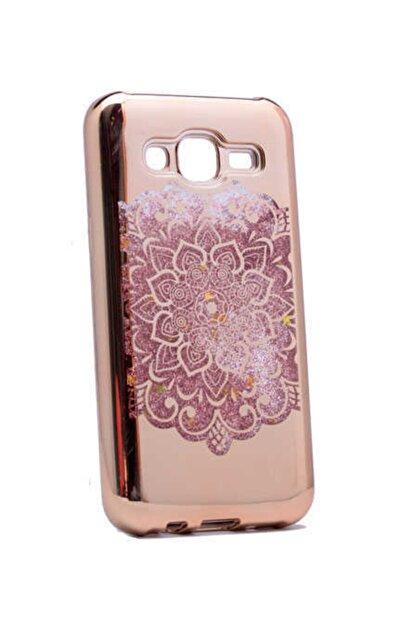 Dijimedia Galaxy J5 Kılıf Lazer Çiçekli Sıvılı Silikon