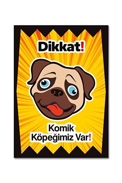 Ufuk Çizgisi Dikkat Komik Köpek Var Levhaları Özel Koleksiyon 10 cm X 15 cm Folyo Sticker