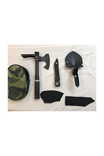 evasist Katlanabilir Metal Kürek Balta Bıçak Çapa Testere Kamp Seti (tek Saplı) Multitools