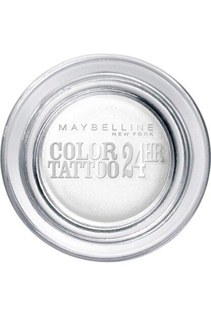 Maybelline New York Eyestudio 24 Hr Color Tattoo Gel Cream Eyeshadow 45 Infinite White