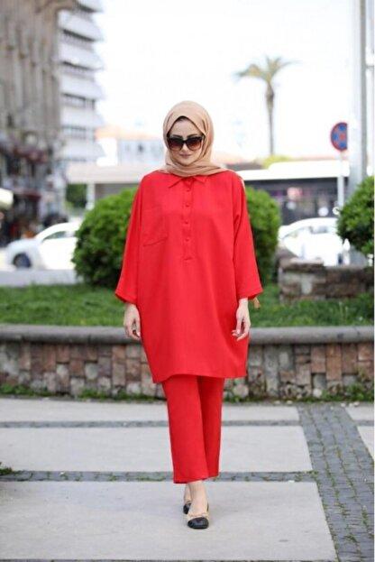 SEDA TİRYAKİ Kadın Kırmızı Alt Üst Takım 10265232
