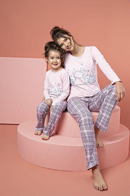 Siyah İnci Pamuklu Likrali Pijama Takım