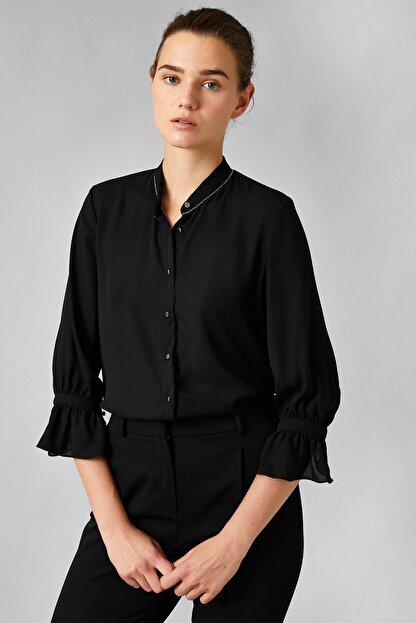 Koton Kadın Siyah Gömlek 0KAK68446PW