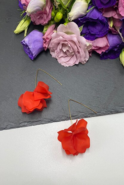 Takı Noktası Nar Çiçeği Çiçek Küpe