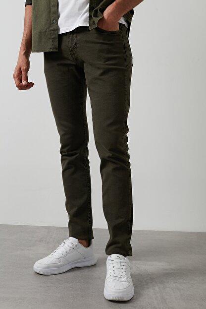 Buratti Erkek Haki 7267f4132zagor Regular Fit Pamuklu Jeans Kot Pantolon