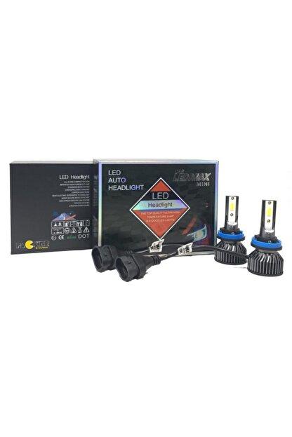 LEDMAX H11 Mini/slim Şimşek Led Xenon Far Ampul 8000 Lümen 6500 K Beyaz Renk, Fan Soğutuculu