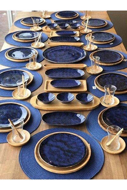 ROSSEV Kahvaltı Takımı Mare Kobalt 91 Parça 12 Kişilik