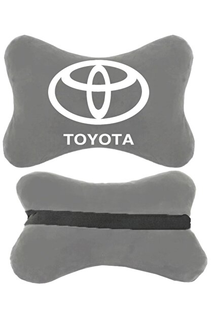 1araba1ev Toyota Carina Oto Oto Koltuk Boyun Yastığı Seyahat Yastık 2 Adet Gri