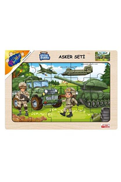 Play Wood Playwood Ahşap Eğitici Puzzle Asker Seti Ony-241