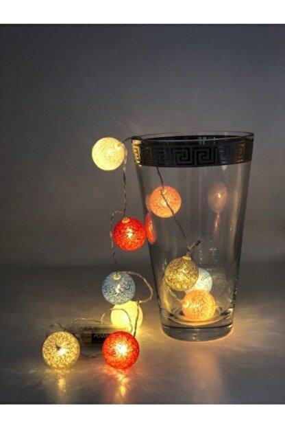 DogusDeco Küçük Montessori Renkli Toplar Led Işıklı Sıralı Toplar 10 Adet Top