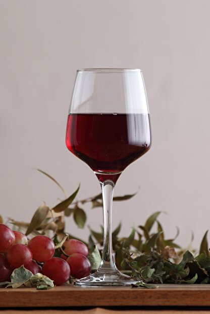 Lav Lal 6'Lı Kırmızı Şarap Kadehi