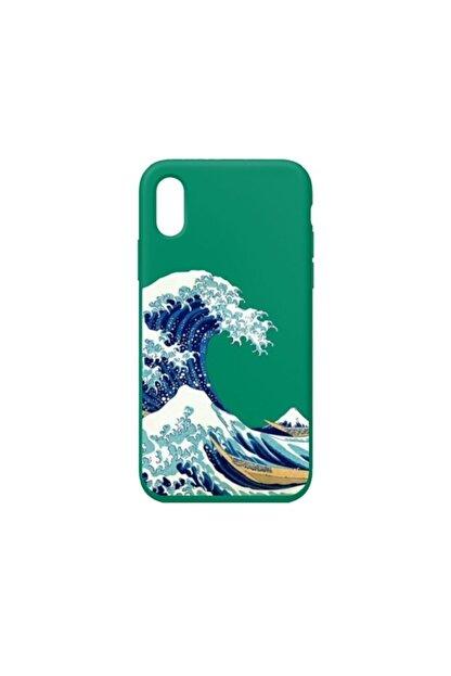 SUMTHINCS Waves Premium Yeşil Iphone X/xs Telefon Kılıfı