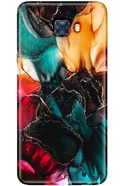 Noprin Samsung Galaxy C5 Pro Kılıf Silikon Baskılı Desenli Arka Kapak