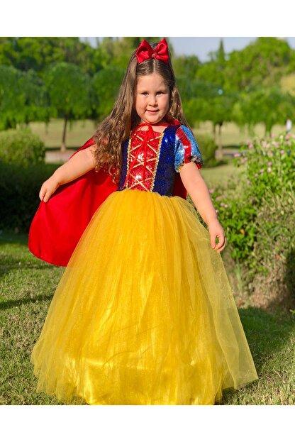 DEHAMODA Kız Çocuk Tarlatanlı Pelerin Pamuk Prenses Dogum Günü Elbise