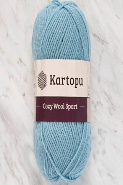 Kartopu Cozy Wool Sport Mavi El Örgü Ipi - K1539