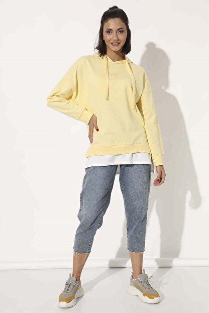 Trisiss Kadın Sarı Sweatshirt