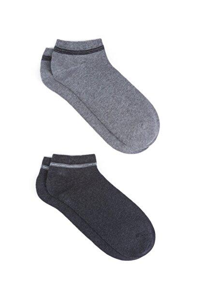 Mavi 2li Patik Çorap Seti