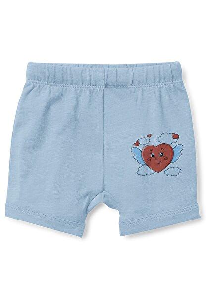 Angemiel Erkek Bebek Mavi Kanatlı Kalp Şort