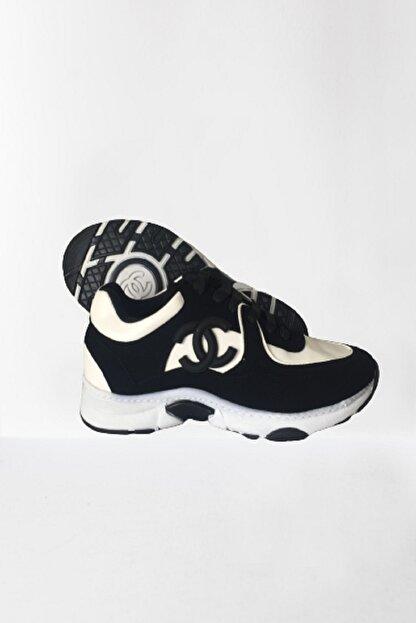 chance chanel Kadın Siyah Spor Ayakkabı