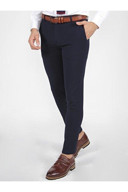 Mcr Erkek Lacivert Slim Fit  Kumaş Pantolon