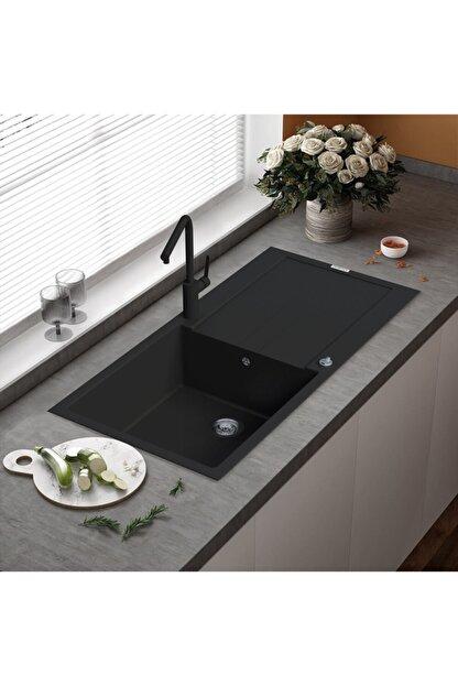 Vıvıano     1 Göz Beyaz 50x99 Cm Xl Küvet Granit Evye + Sifon