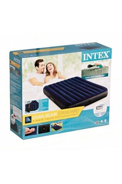 Intex Fiber-tech Çift Kişilik Şişme Yatak Set Kamp Yatağı 2 Adet Yastık Ve Pompa Dahil-64765