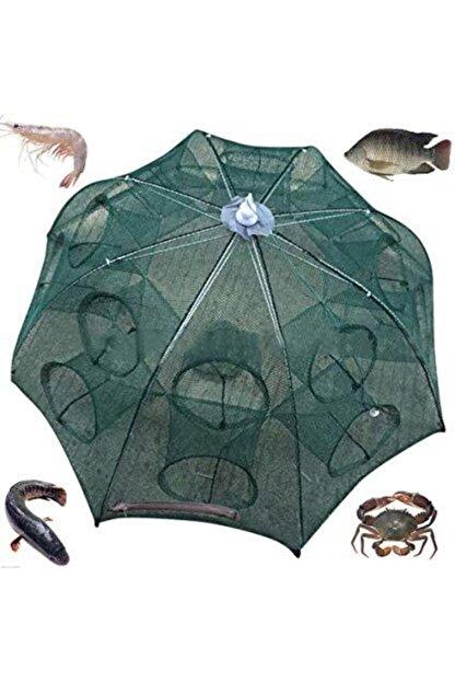 AKTEPE Balık Tuzağı 16 Cepli Büyük Boy Balık Yakalama Filesi Balık Ağı
