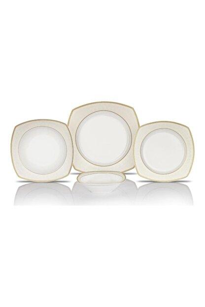 Schafer Elga Porselen Yemek Takımı 24 Parça Altın