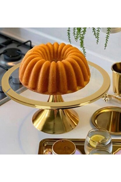 Sillage Home Gold Ayaklı Kek Ve Pasta Standı 30 Cm