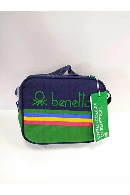Benetton Unisex Lacivert Yeşil Beslenme Çantası