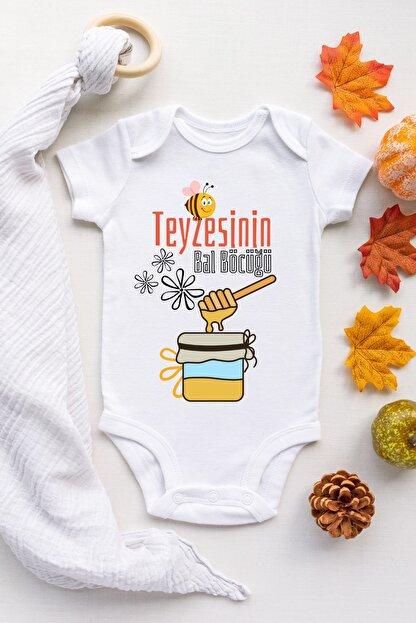 Babydonat Teyzesinin Bal Böcüğü Desenli Kısa Kol Unisex Body