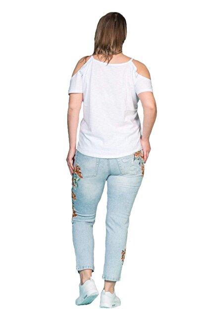 Hanezza Omuz Detaylı Pamuklu T-shirt
