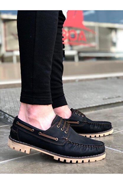 Marsetti Erkek Siyah Bağcıklı Klasik Ayakkabı