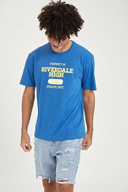 Defacto Erkek Riverdale Lisanslı Oversize Fit Bisiklet Yaka Tişört