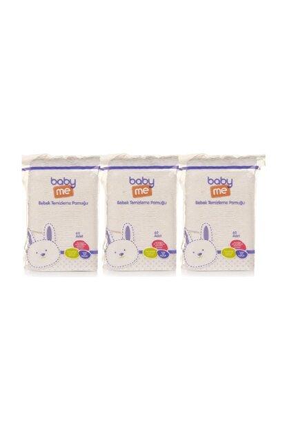 Baby Me Bebek Temizleme Pamuğu 3 Lü Paket 60 Adetli