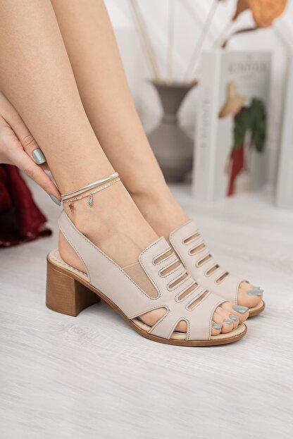 Diego Carlotti Hakiki Deri Kadın Topuklu Sandalet