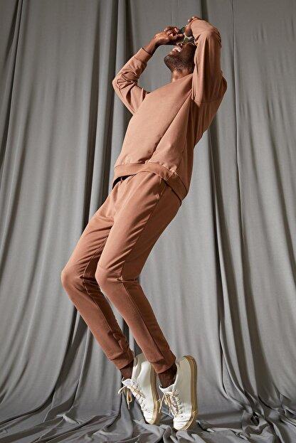 Defacto Erkek Kahverengi Slim Fit Jogger Eşofman Altı