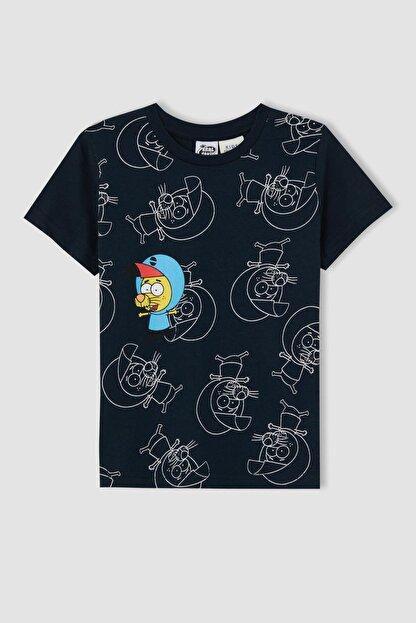 Defacto Erkek Çocuk Mavi Kral Şakir Lisanslı Kısa Kol Tişört