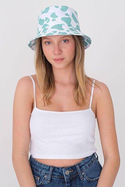 Addax Kadın Mint Beyaz Şapka Şpk1045 - E1 Adx-0000023856