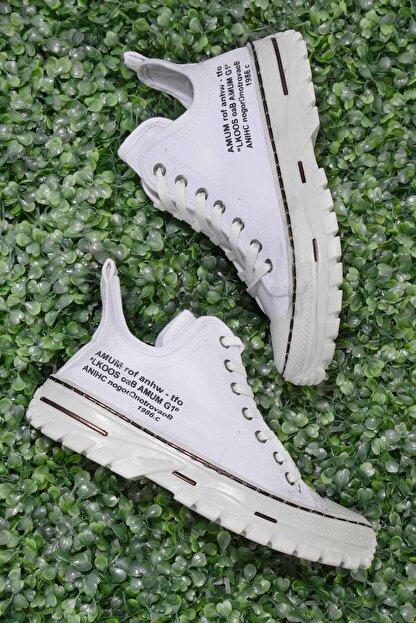 Bambi Beyaz Kadın Sneaker K01779000118