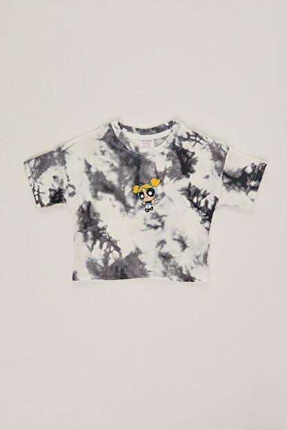 PAULMARK Kız Çocuk Batik Desen T-shirt