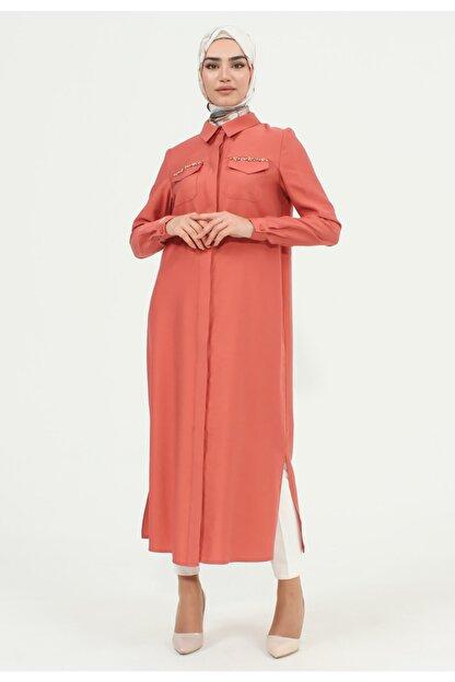 Setrms Boydan Düğmeli Cep Detaylı Tunik