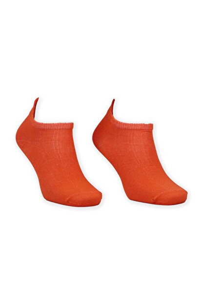 Giyinn Nakış Desenli Kadın Soket Çorap | Turuncu